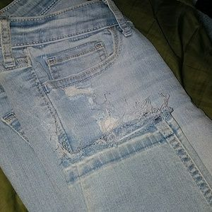 Hollister cropped skinny jeans